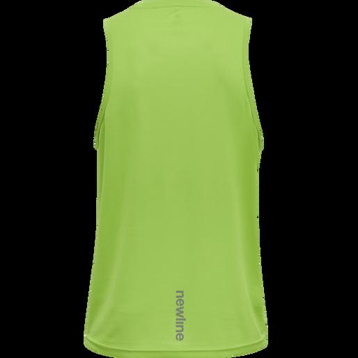 MEN CORE RUNNING SINGLET, GREEN FLASH, packshot