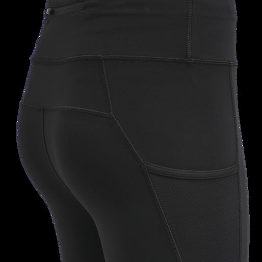 WOMEN HIGHWAIST WARM TIGHTS, BLACK, packshot