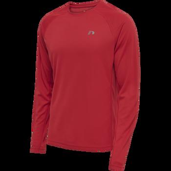 MEN CORE RUNNING T-SHIRT L/S, TANGO RED, packshot