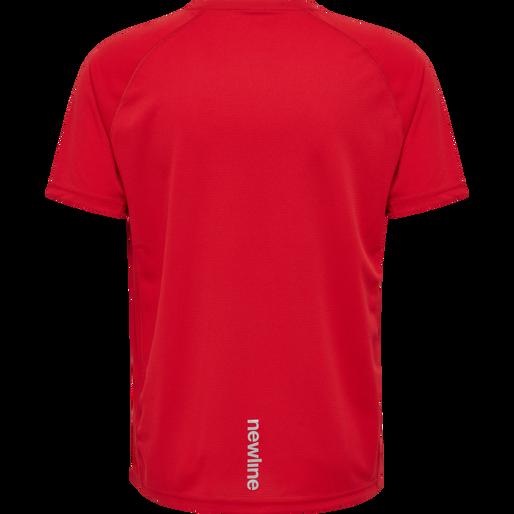 MEN CORE RUNNING T-SHIRT S/S, TANGO RED, packshot