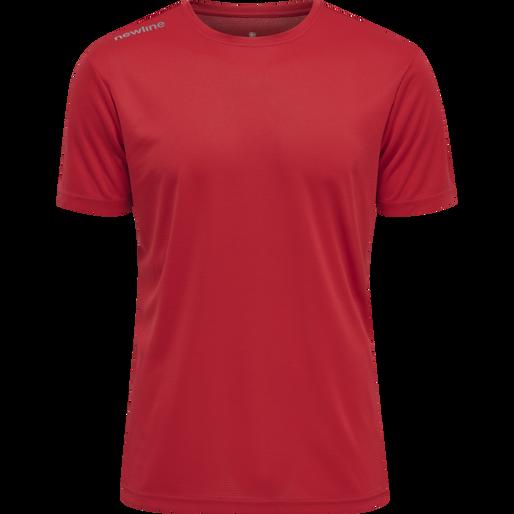 MEN CORE FUNCTIONAL T-SHIRT S/S, TANGO RED, packshot