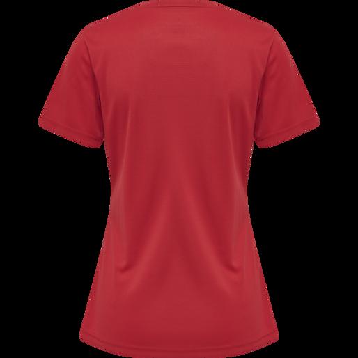 WOMEN CORE FUNCTIONAL T-SHIRT S/S, TANGO RED, packshot