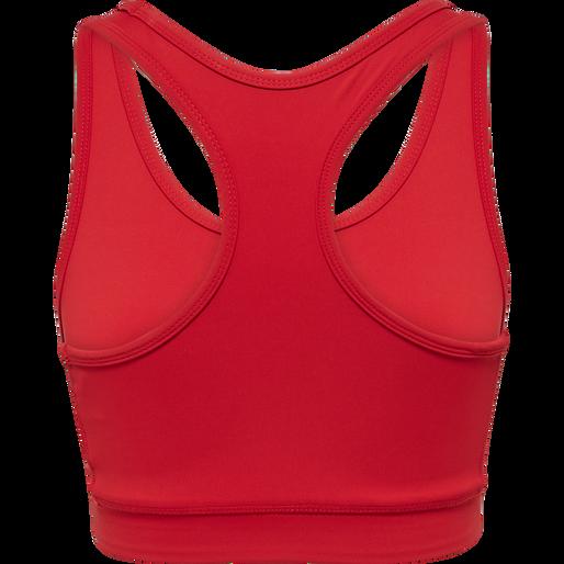 WOMEN CORE ATHLETIC TOP, TANGO RED, packshot