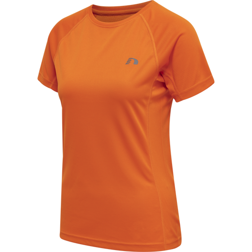 WOMEN CORE RUNNING T-SHIRT S/S, ORANGE TIGER, packshot